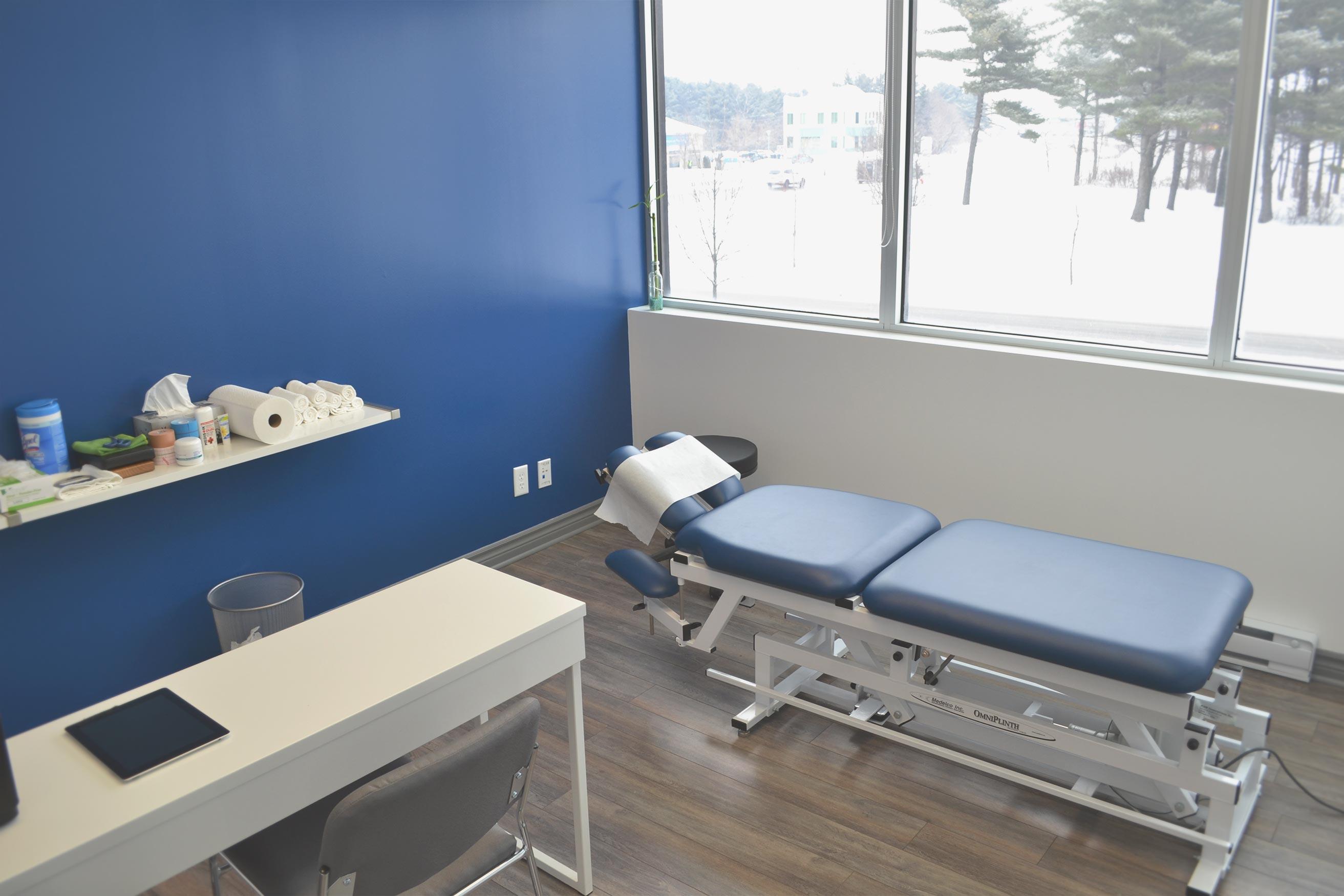 Salle traitement clinique chiropratique Blainville Laurea